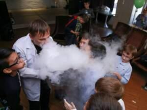 Дым в Азотное шоу