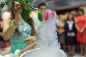 Роза в опыте в Азотное шоу