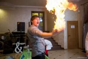 огонь в руке Азотное шоу