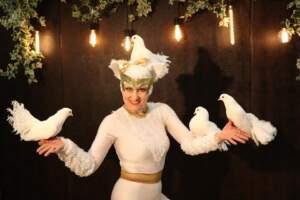шоу с голубями на детский день рождения